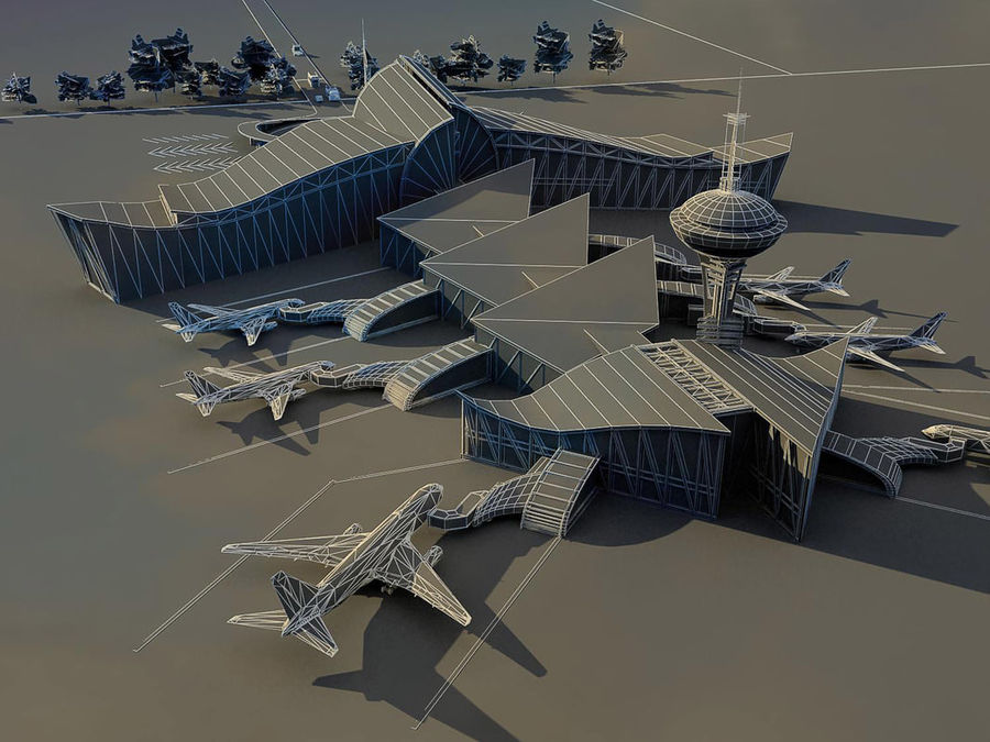Airport royalty-free 3d model - Preview no. 4