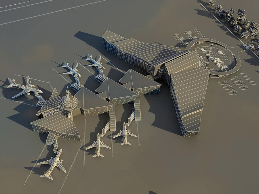 Airport royalty-free 3d model - Preview no. 5