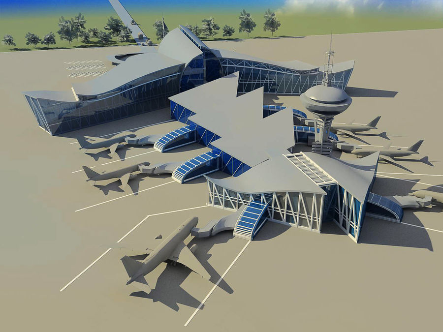 Airport royalty-free 3d model - Preview no. 1
