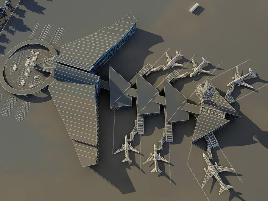 Airport royalty-free 3d model - Preview no. 3