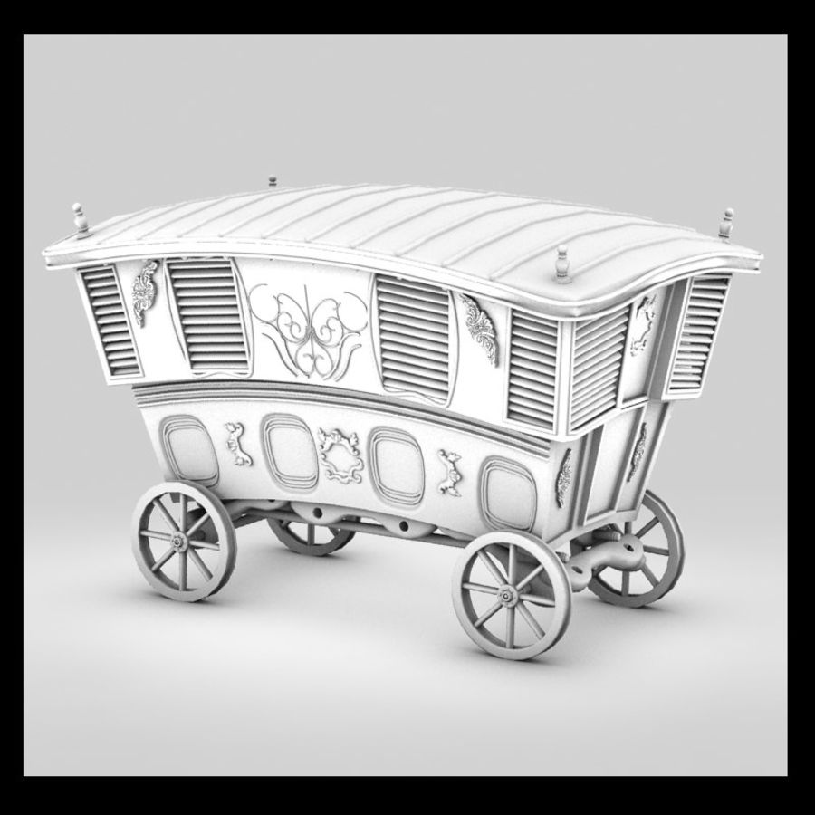 Husvagn royalty-free 3d model - Preview no. 2