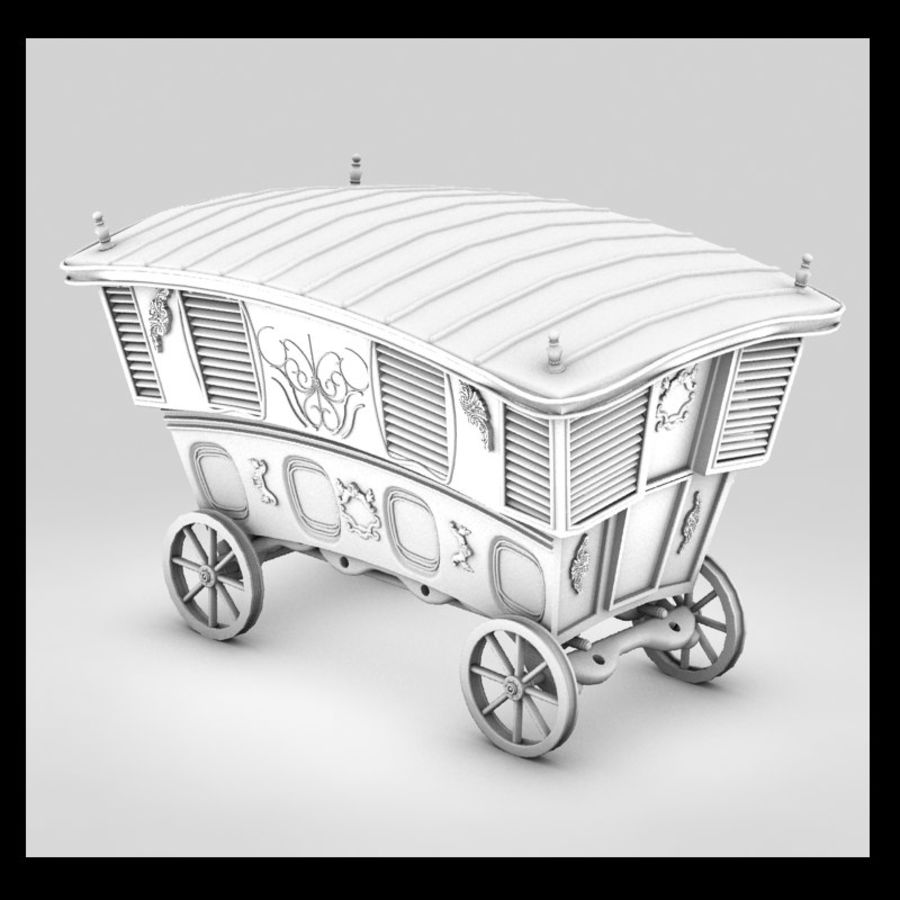 Husvagn royalty-free 3d model - Preview no. 1