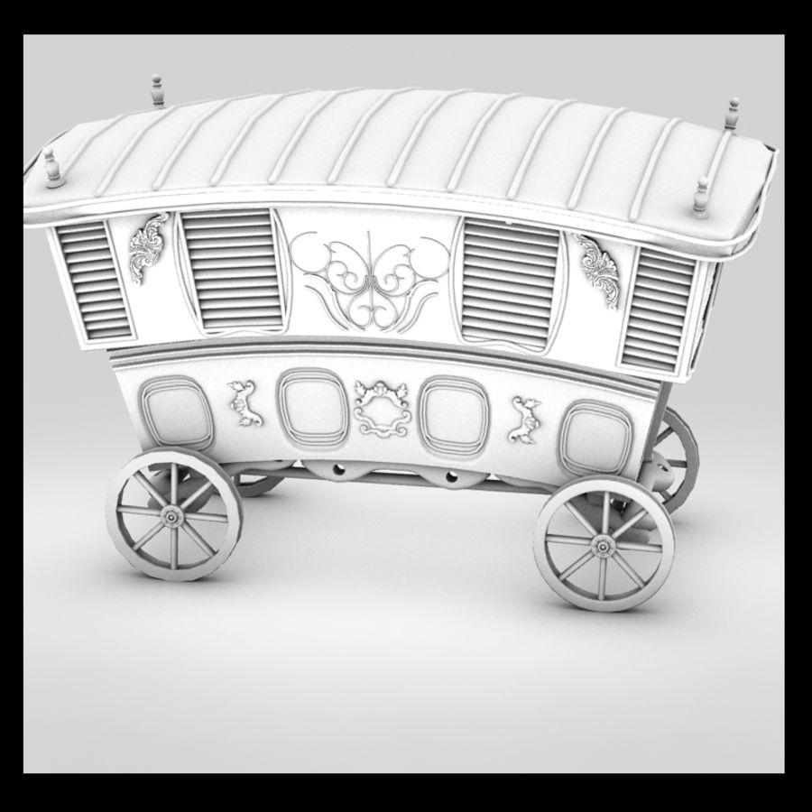 Caravan royalty-free 3d model - Preview no. 8