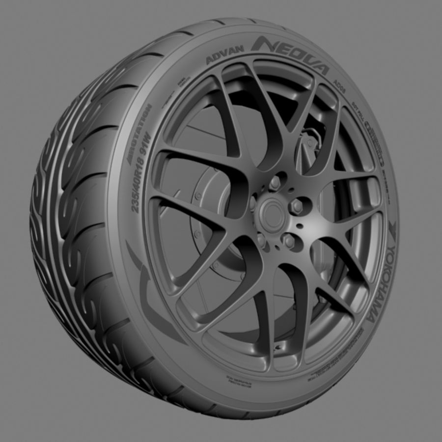 HRE P40 royalty-free 3d model - Preview no. 4