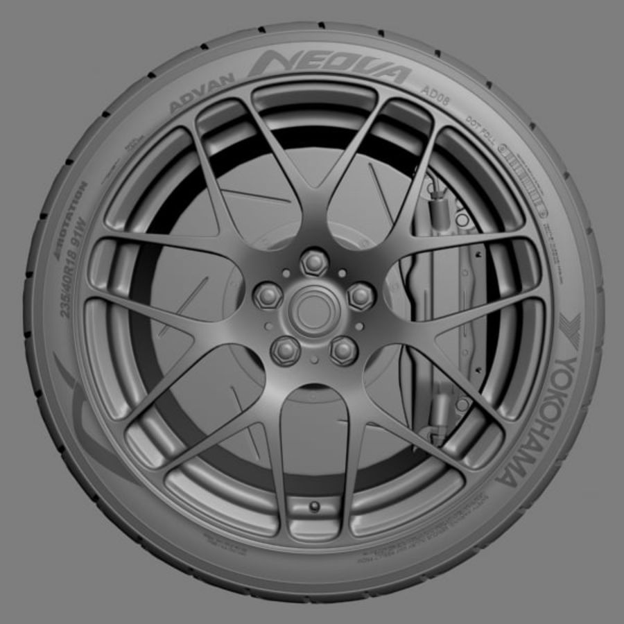 HRE P40 royalty-free 3d model - Preview no. 3