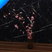 Cherry Blossom in vase 3d model