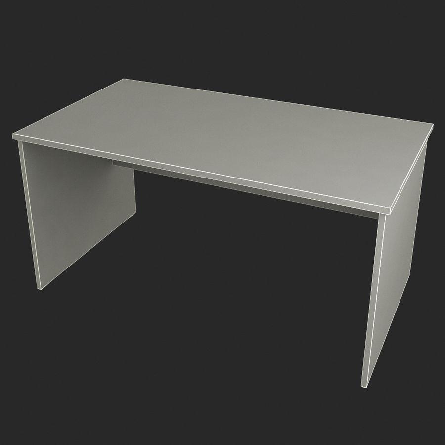 School desk V4 royalty-free 3d model - Preview no. 6