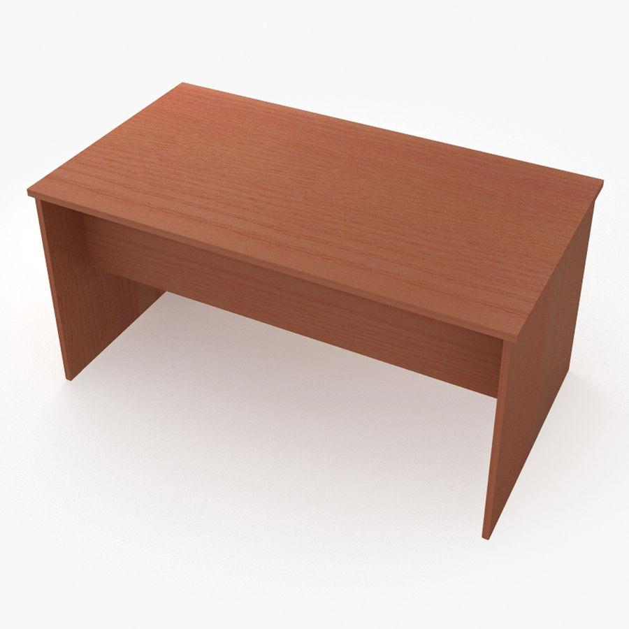 School desk V4 royalty-free 3d model - Preview no. 4