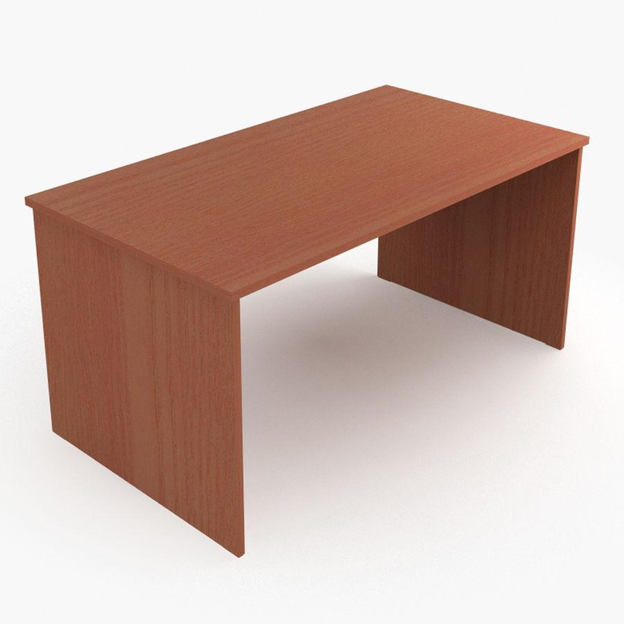 School desk V4 royalty-free 3d model - Preview no. 3
