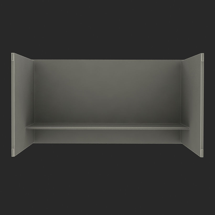 School desk V4 royalty-free 3d model - Preview no. 7
