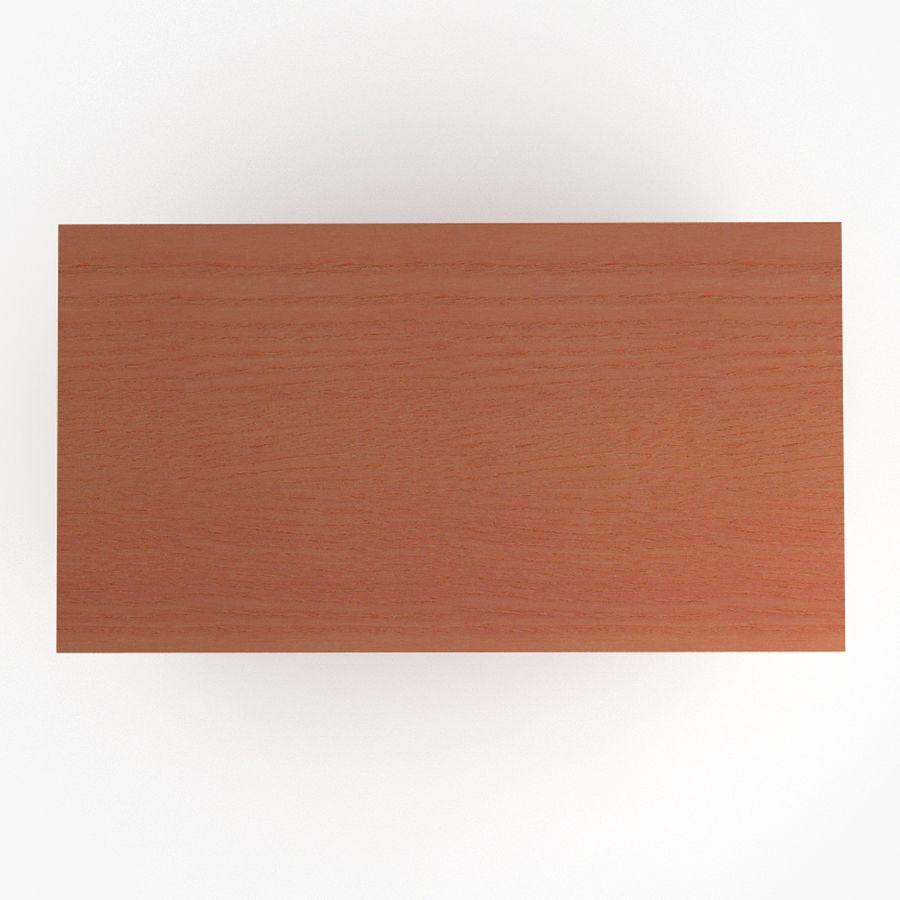 School desk V4 royalty-free 3d model - Preview no. 5
