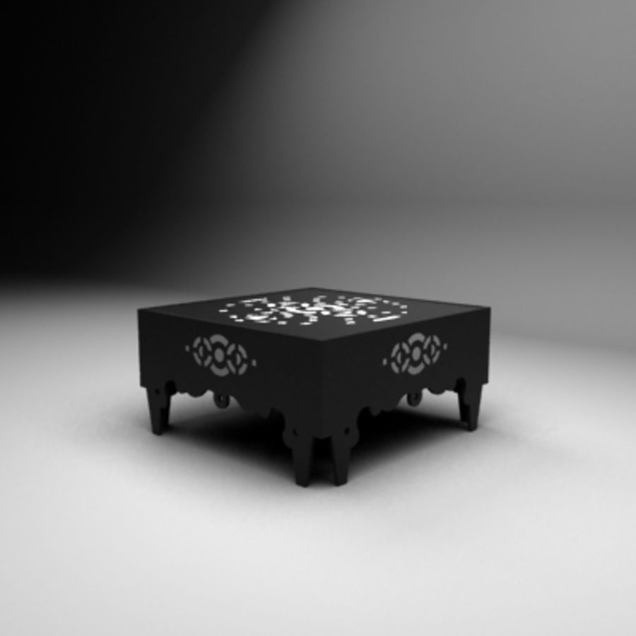 Litet bord royalty-free 3d model - Preview no. 2