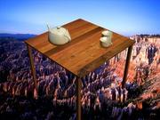 Tea Kit + Table 3d model