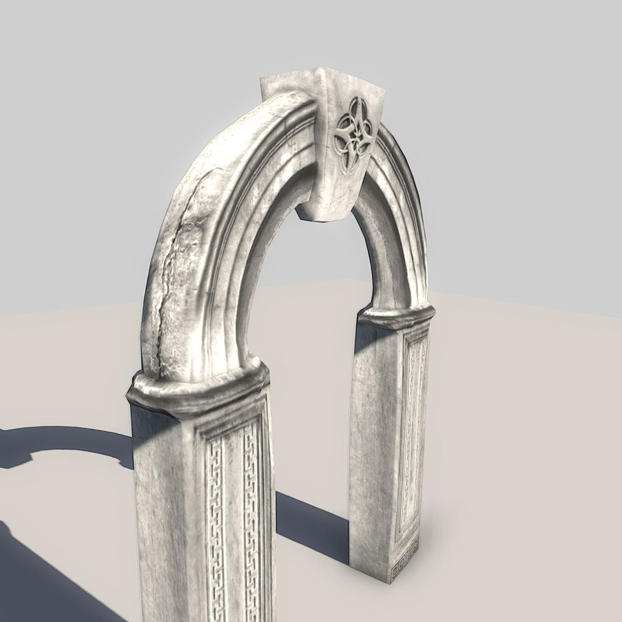 Stone Arch royalty-free 3d model - Preview no. 4
