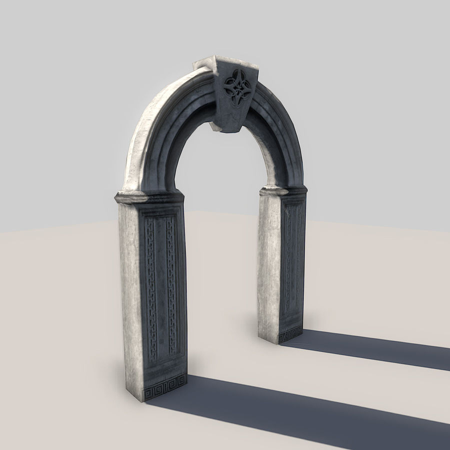 Stone Arch royalty-free 3d model - Preview no. 3