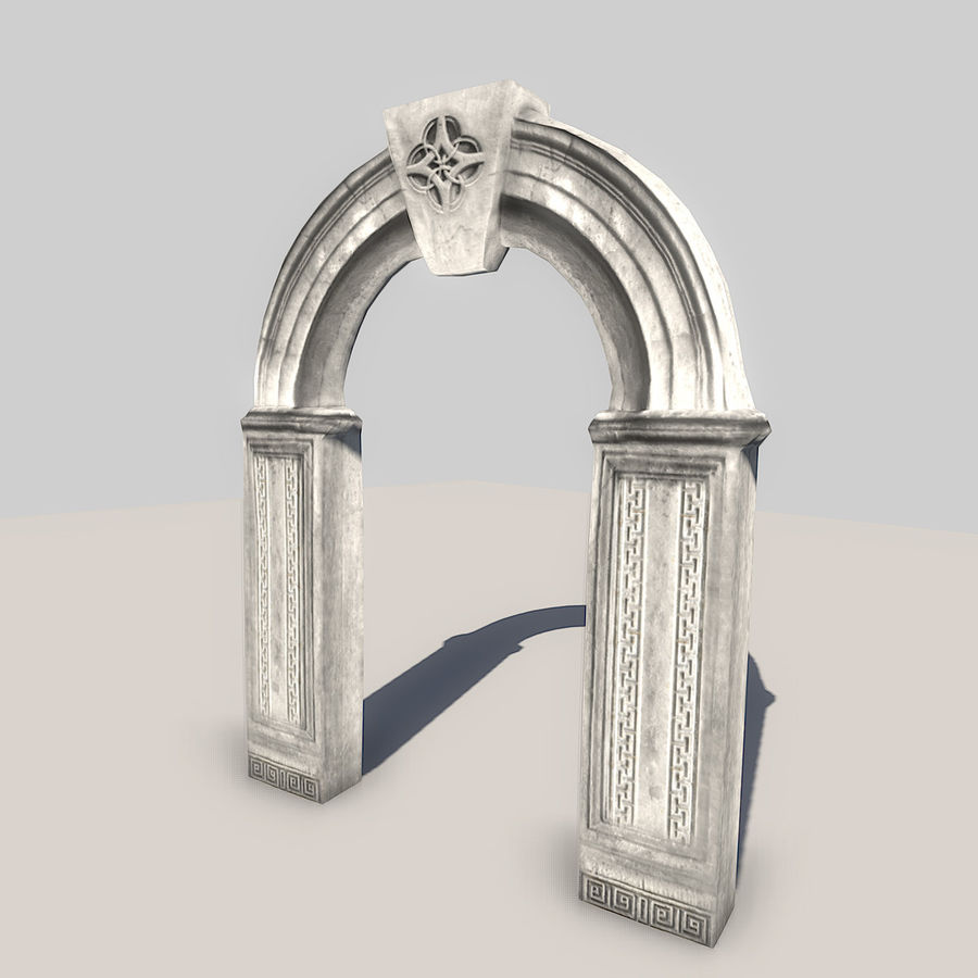 Stone Arch royalty-free 3d model - Preview no. 5