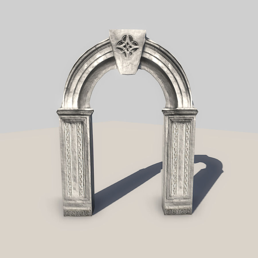 Stone Arch royalty-free 3d model - Preview no. 2