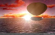 ballon au coucher du soleil 3d model