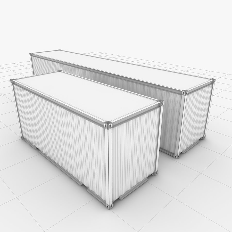 Shipping Container 40 Ft. & 20 Ft. royalty-free 3d model - Preview no. 10