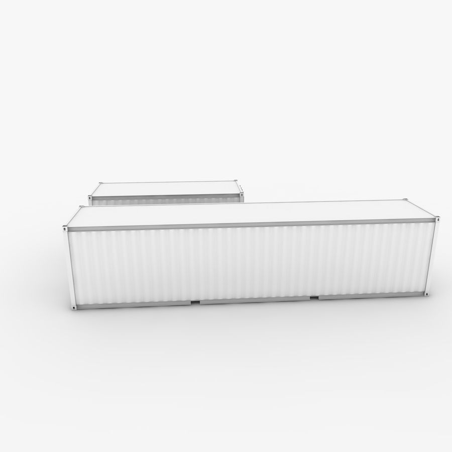 Shipping Container 40 Ft. & 20 Ft. royalty-free 3d model - Preview no. 6