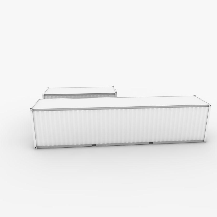 Nakliye Konteyneri 40 Ft. & 20 Ft. royalty-free 3d model - Preview no. 6
