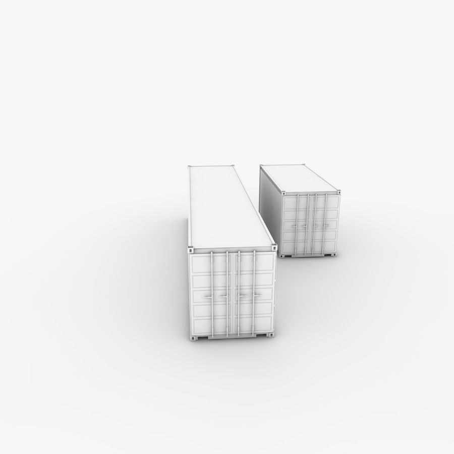 Shipping Container 40 Ft. & 20 Ft. royalty-free 3d model - Preview no. 8