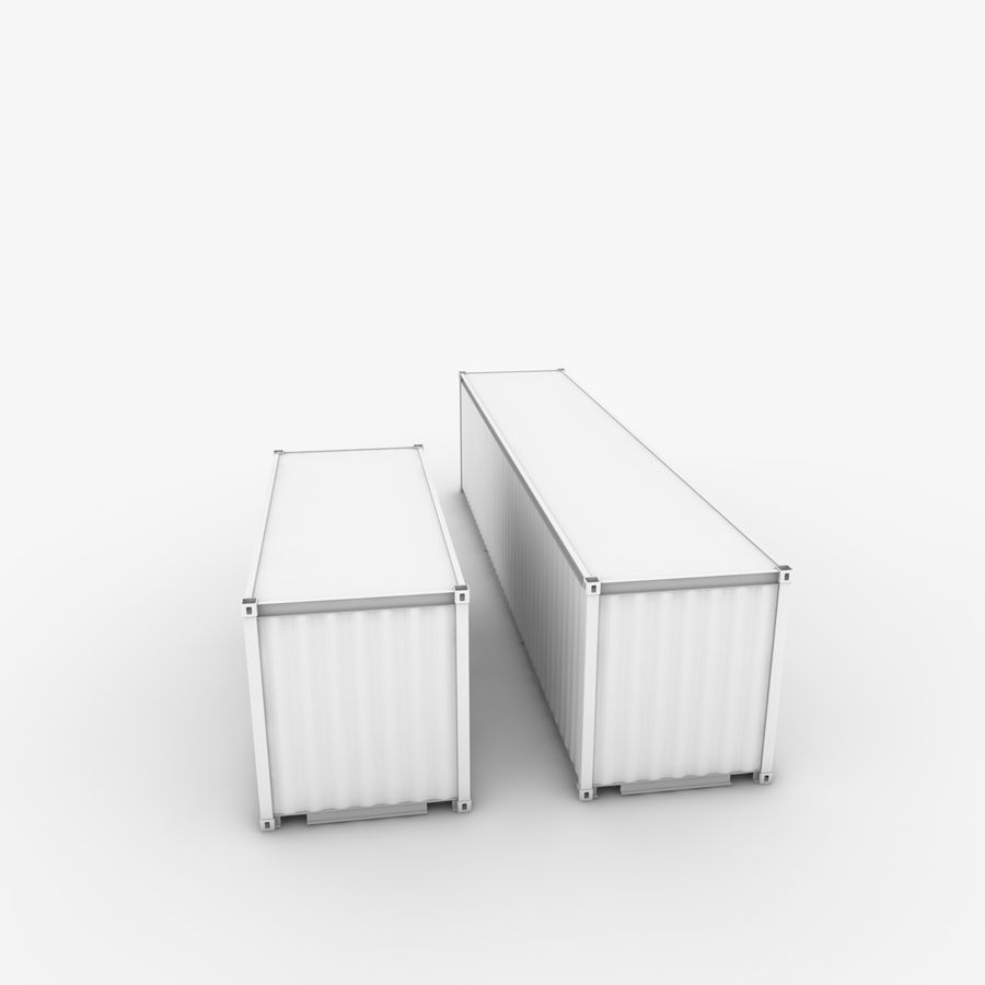 Shipping Container 40 Ft. & 20 Ft. royalty-free 3d model - Preview no. 4
