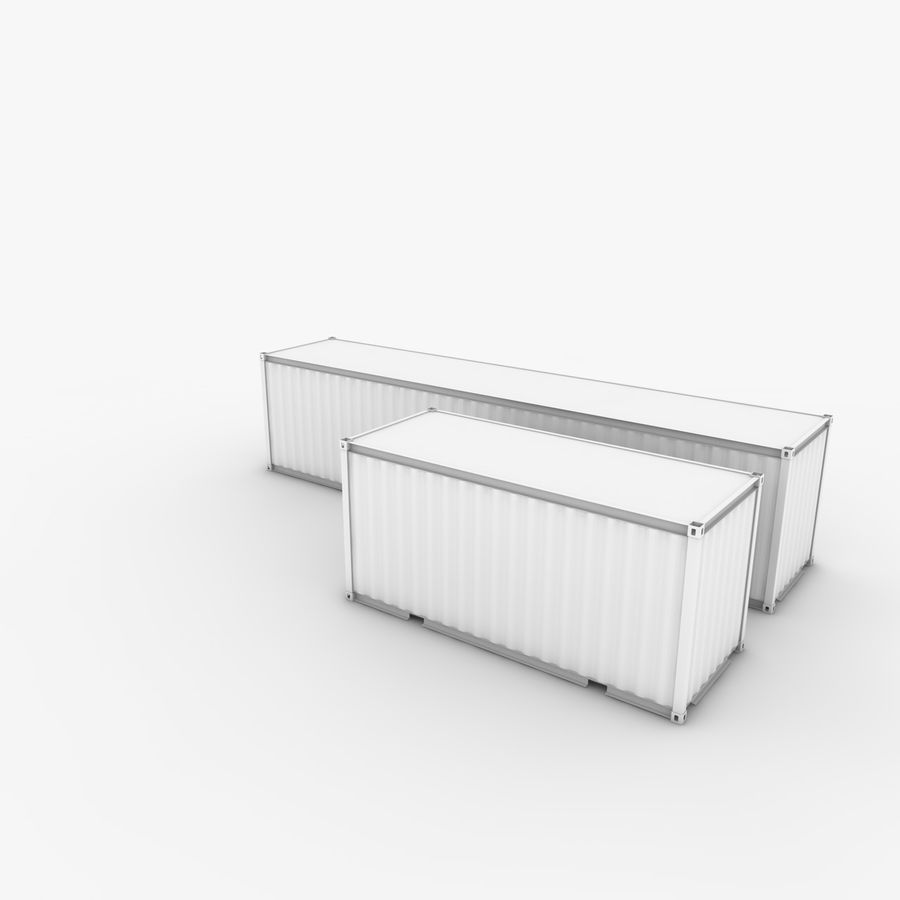 Shipping Container 40 Ft. & 20 Ft. royalty-free 3d model - Preview no. 3