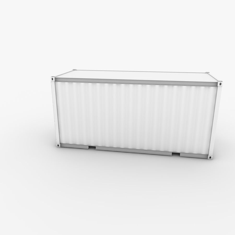Shipping Container 20 Ft. royalty-free 3d model - Preview no. 5