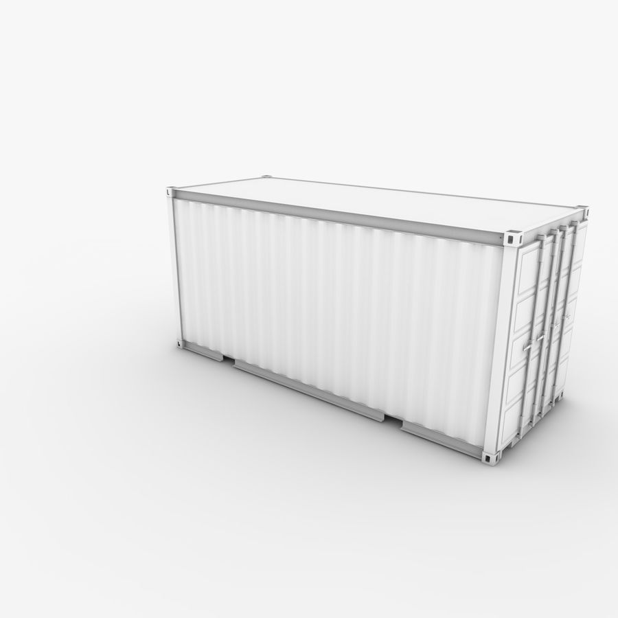Shipping Container 20 Ft. royalty-free 3d model - Preview no. 15