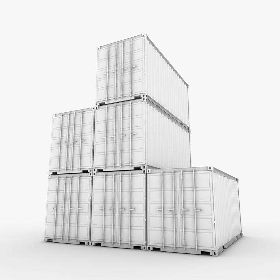 Shipping Container 20 Ft. royalty-free 3d model - Preview no. 18