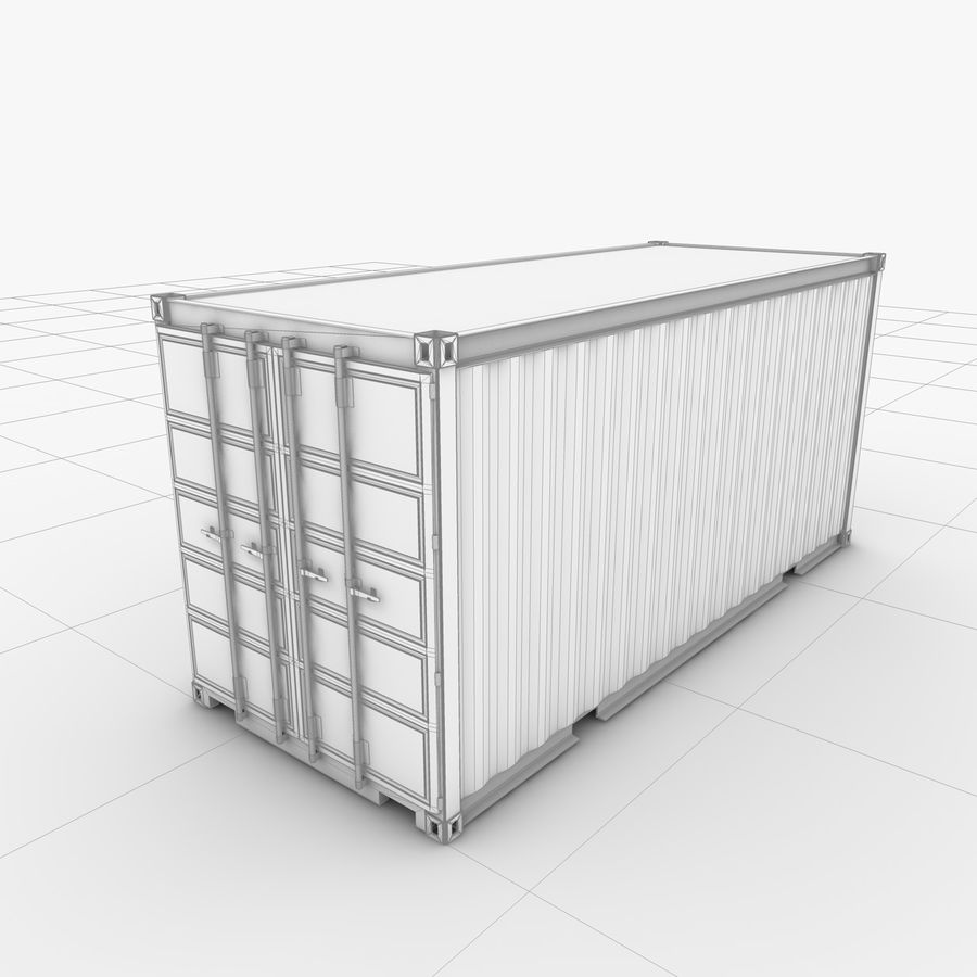 Shipping Container 20 Ft. royalty-free 3d model - Preview no. 19