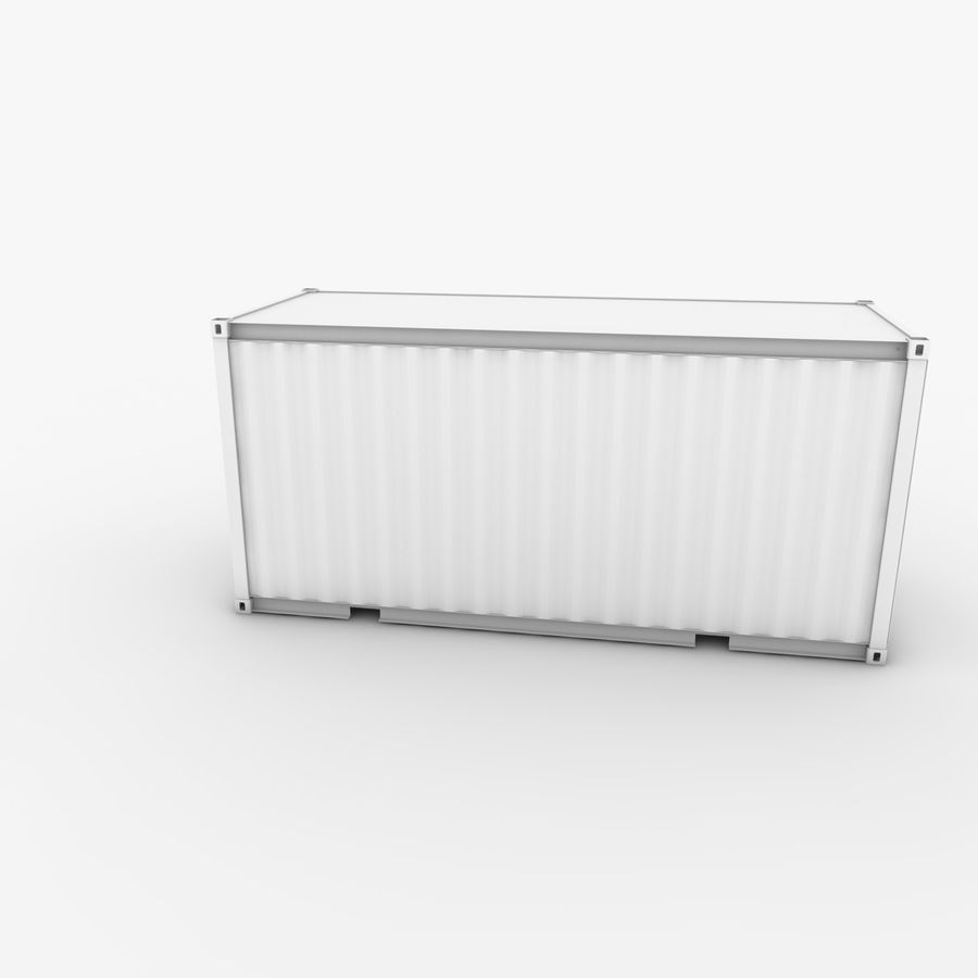 Shipping Container 20 Ft. royalty-free 3d model - Preview no. 14