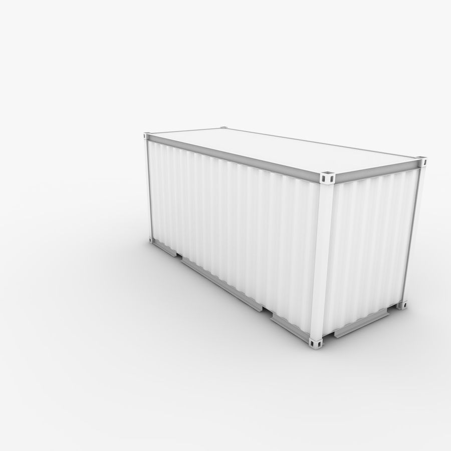 Shipping Container 20 Ft. royalty-free 3d model - Preview no. 8