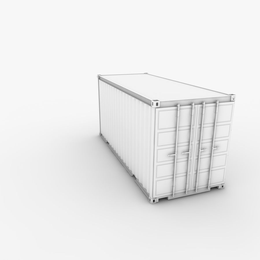 Shipping Container 20 Ft. royalty-free 3d model - Preview no. 16