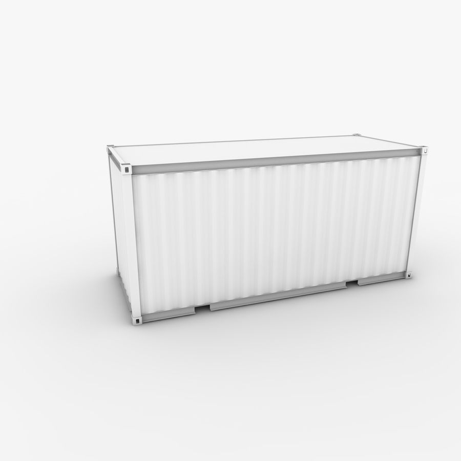 Shipping Container 20 Ft. royalty-free 3d model - Preview no. 13