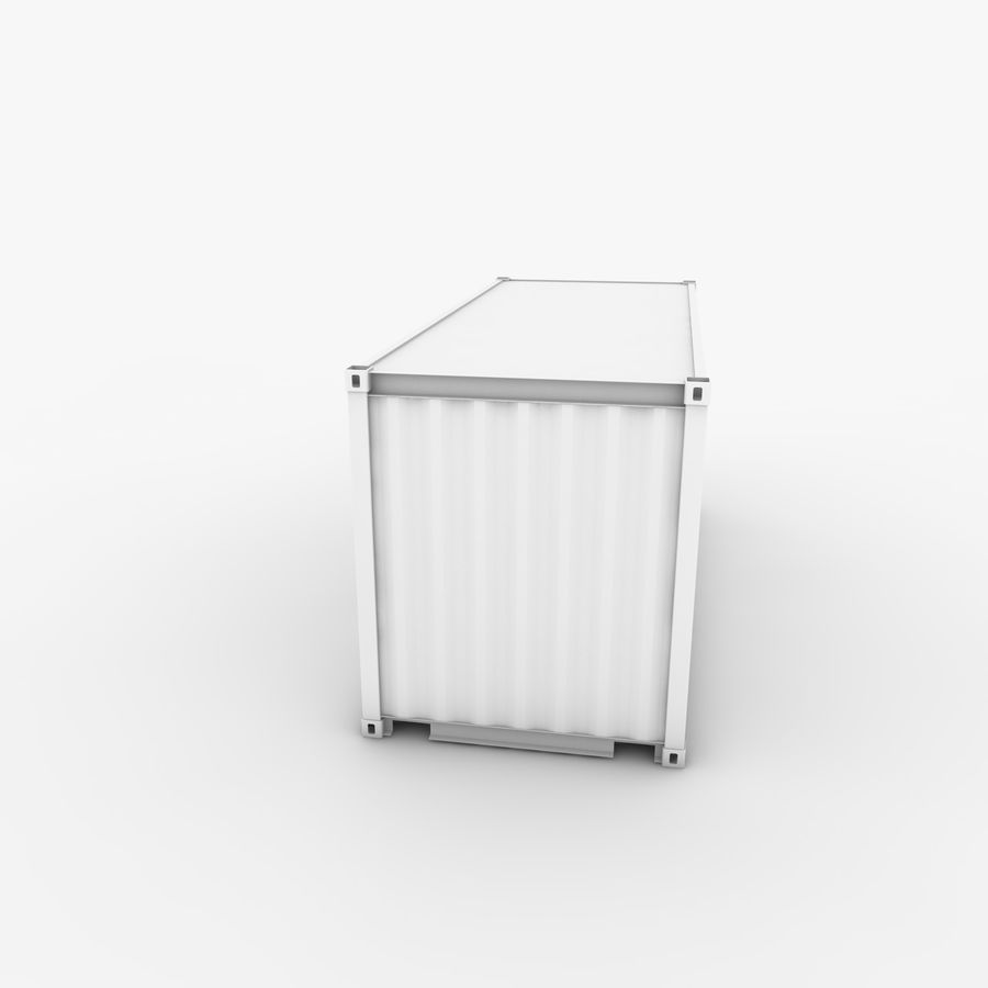 Shipping Container 20 Ft. royalty-free 3d model - Preview no. 11