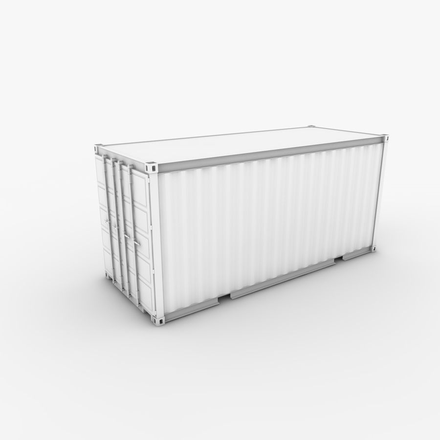 Shipping Container 20 Ft. royalty-free 3d model - Preview no. 2