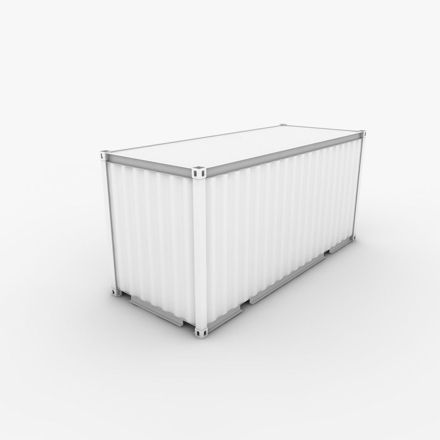 Shipping Container 20 Ft. royalty-free 3d model - Preview no. 12