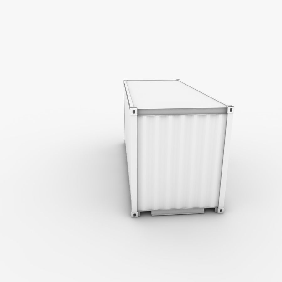 Shipping Container 20 Ft. royalty-free 3d model - Preview no. 10