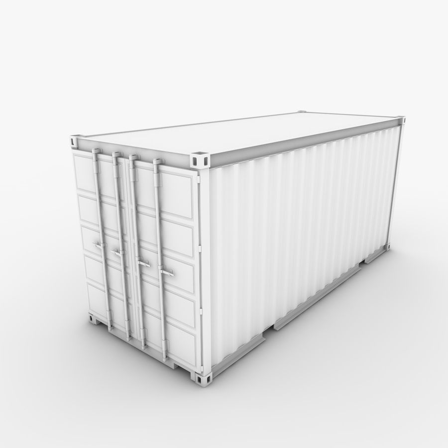 Shipping Container 20 Ft. royalty-free 3d model - Preview no. 21