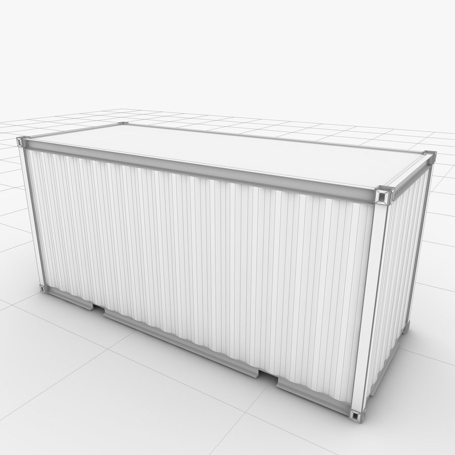 Shipping Container 20 Ft. royalty-free 3d model - Preview no. 20
