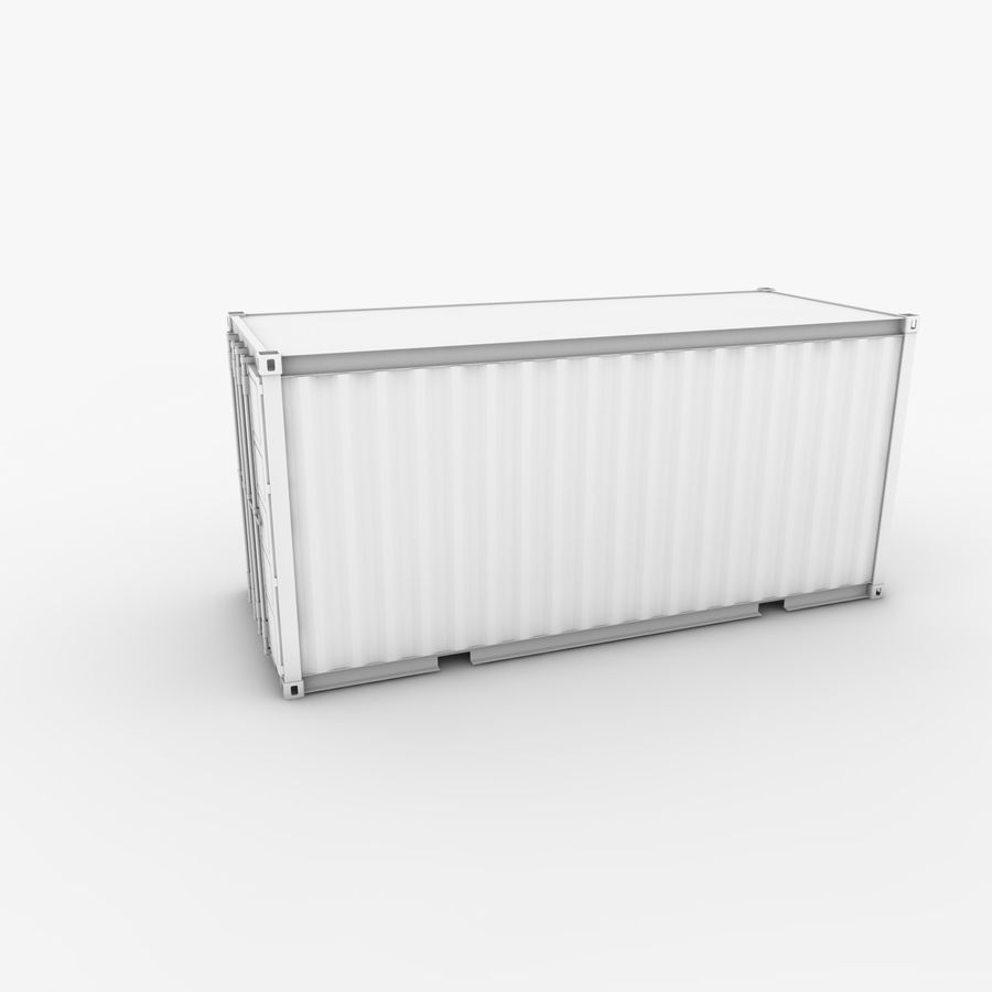 Shipping Container 20 Ft. royalty-free 3d model - Preview no. 3