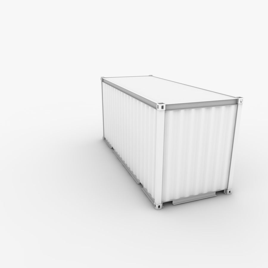 Shipping Container 20 Ft. royalty-free 3d model - Preview no. 9