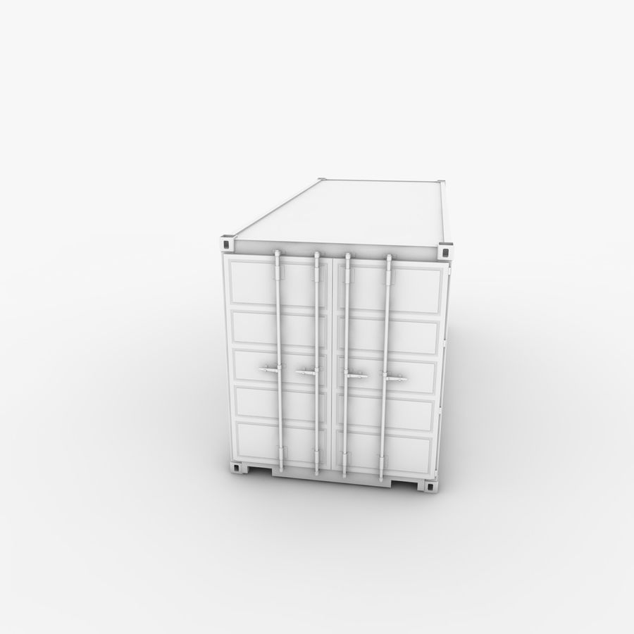 Shipping Container 20 Ft. royalty-free 3d model - Preview no. 17