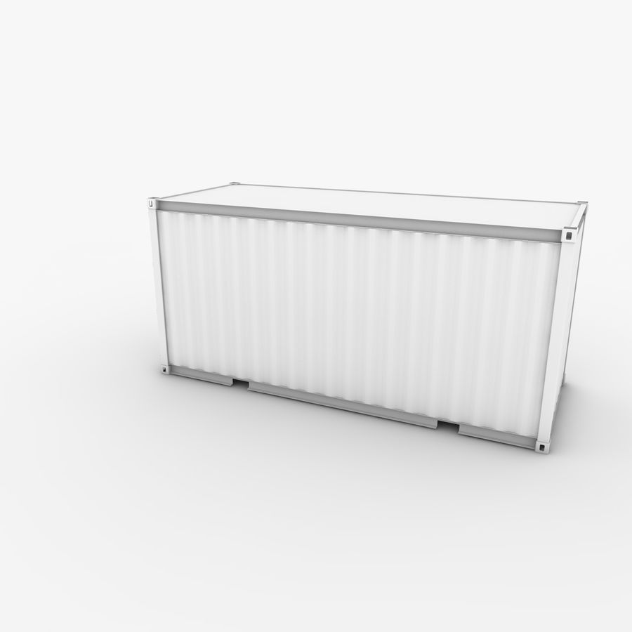 Shipping Container 20 Ft. royalty-free 3d model - Preview no. 6