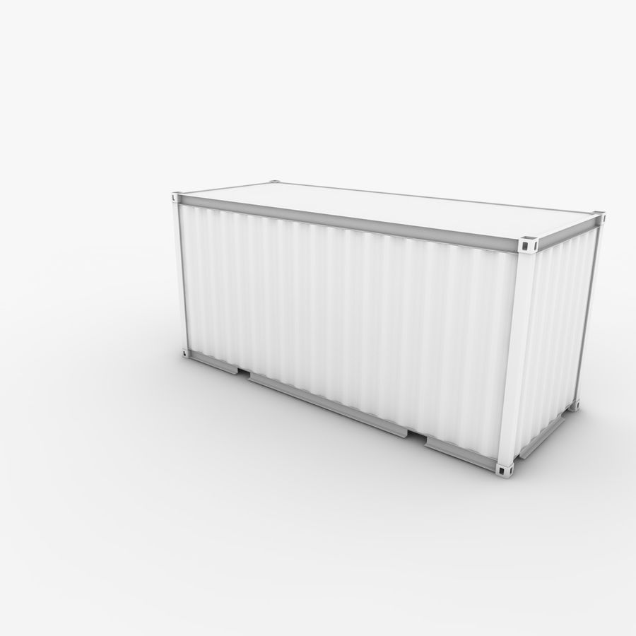 Shipping Container 20 Ft. royalty-free 3d model - Preview no. 7