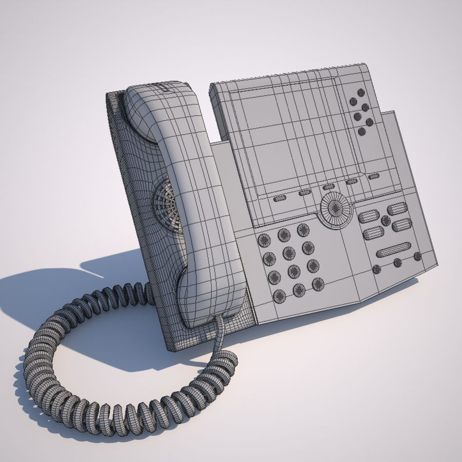 Телефон royalty-free 3d model - Preview no. 2