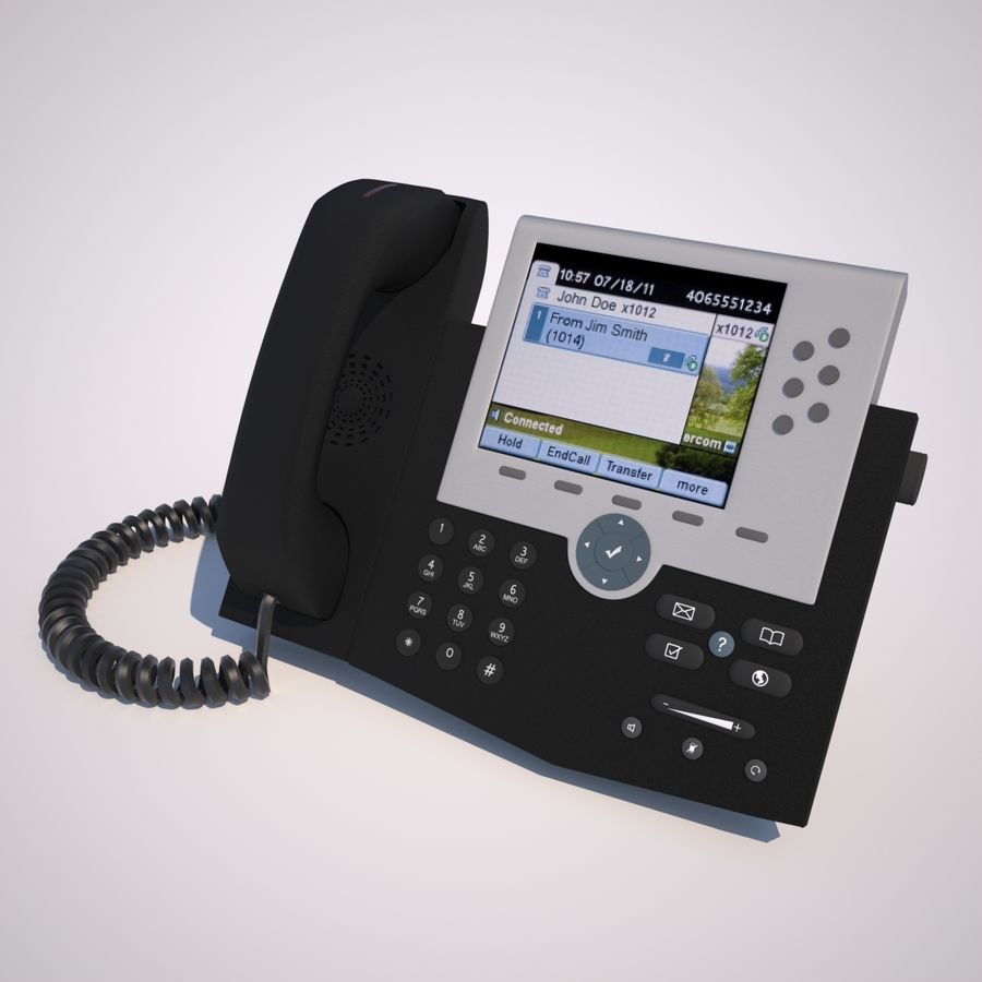Teléfono royalty-free modelo 3d - Preview no. 3