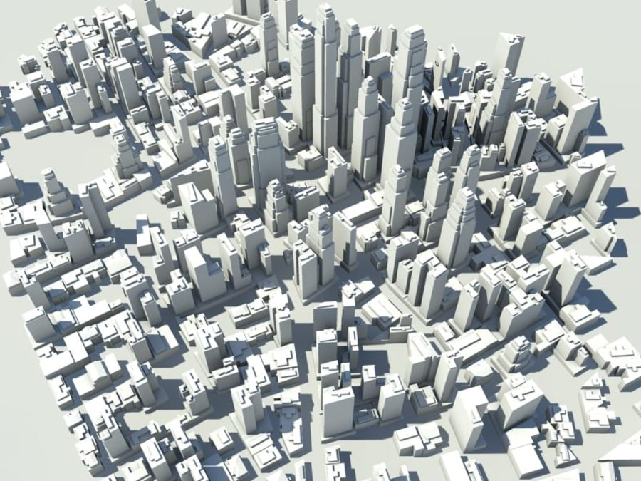 Ciudad royalty-free modelo 3d - Preview no. 7